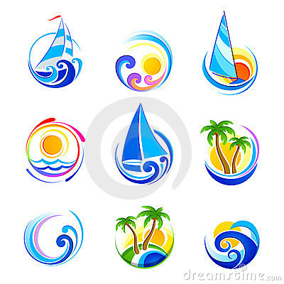 Free Summer Icons Royalty Free Stock Photography - 24103577