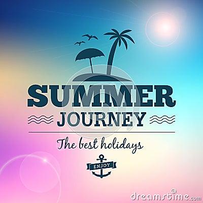 Summer journey  vintage poster