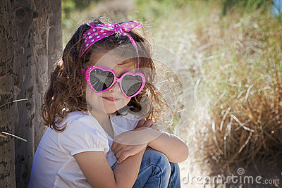Summer kid wearing sunglasses