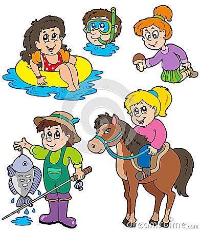 Summer kids activities collection