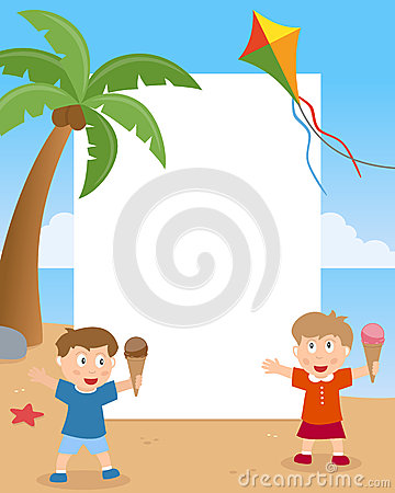 Summer Kids on the Beach Photo Frame