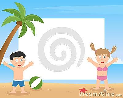 Summer Kids Playing Photo Frame