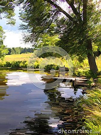 Free Summer Lake Royalty Free Stock Image - 3437606
