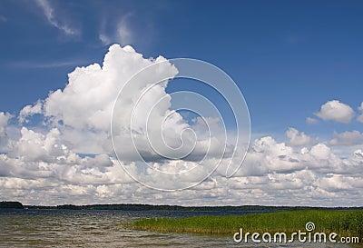 Summer land sky horizon