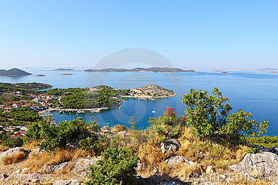 Summer landscape of dalmatia