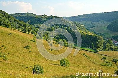Summer landscape in Transylvania