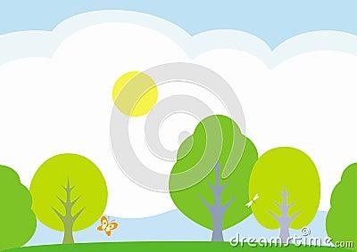 Summer landscape – vector illustration