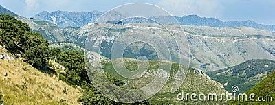 Summer  Llogara pass (Albania) panorama.