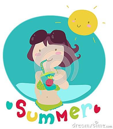 Free Summer Lover Cartoon Stock Photo - 18592170