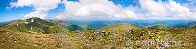 Summer Mountain Panorama (Ukraine, Carpathian) Stock Photography - Image: 15396702
