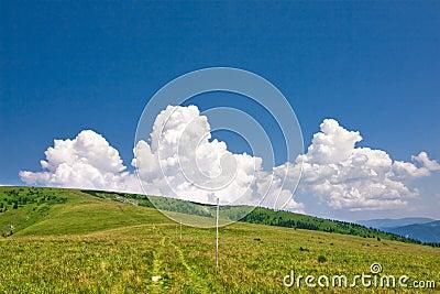 Summer mountain ridge