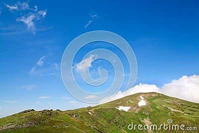 Summer mountain ridge (Ukraine, Carpathian Mt s)