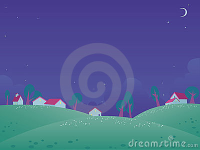 Summer night landscape