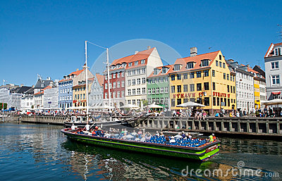 Summer Nyhavn Tourism Editorial Image