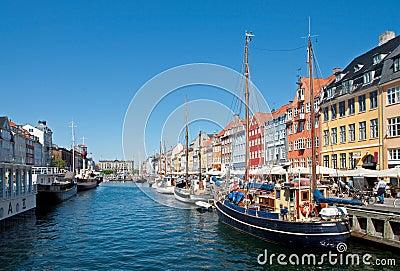Summer Nyhavn Tourism Editorial Image