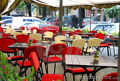 Summer open air cafe