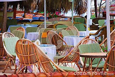 Summer open air cafe