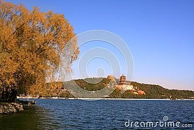 Summer palace in autumn
