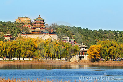 Summer palace in autumn