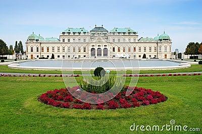 Summer palace Belvedere in Vienna, Austria