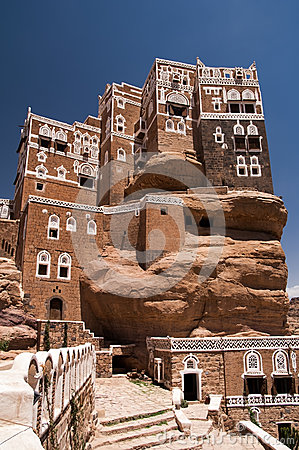 Summer palace at Wadi Dhar in Yemen