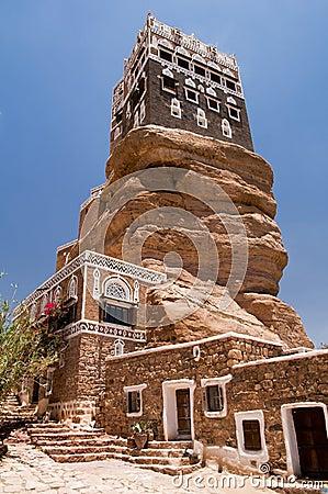 Summer palace at Wadi Dhar in Yemen