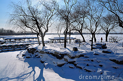 The Summer Palace Snow Royalty Free Stock Photos - Image: 12437598