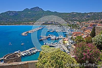 Summer panorama of Calvi, Corsica