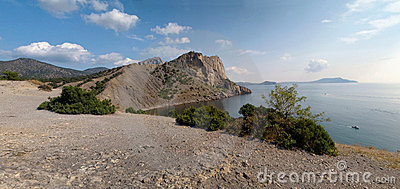 Summer panorama of Crimea