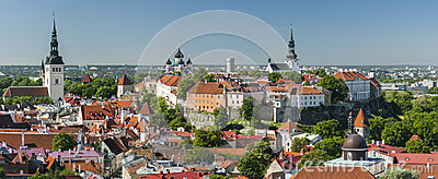 Summer panorama of the Old Town of Tallinn,Estonia