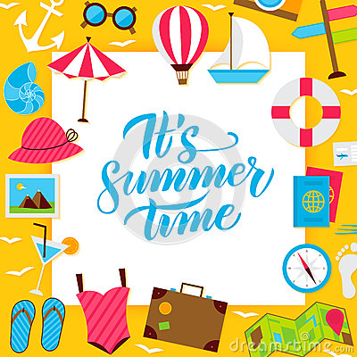 Summer Paper Concept Vector Illustration