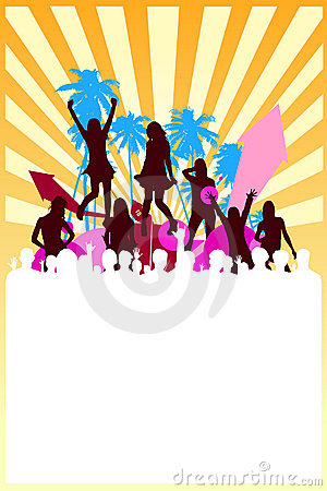 Free Summer Party Background Vector Royalty Free Stock Photography - 9428907