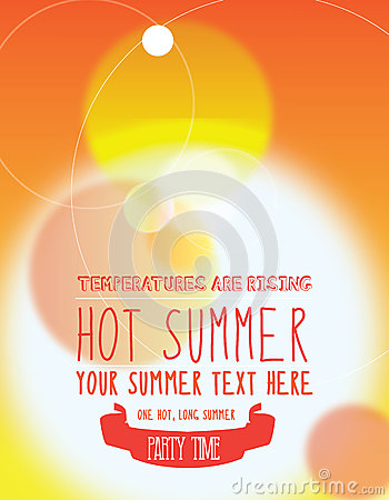 Summer party invite or poster