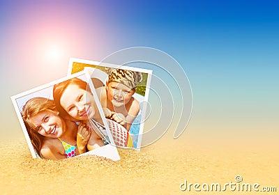 Summer photos on the beach
