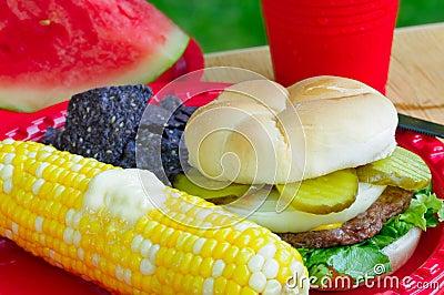 Summer picnic plate