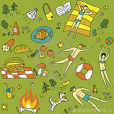 Summer-picnic-seamless-pattern