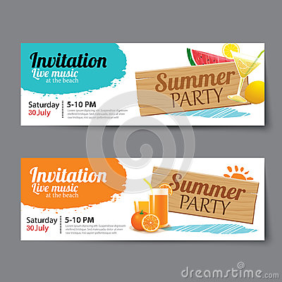 Summer Pool Party Ticket Template Vector Image 74953487 – Party Ticket Template