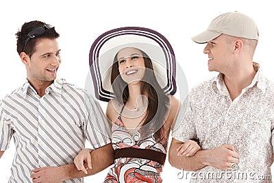 Summer portrait of attractive people