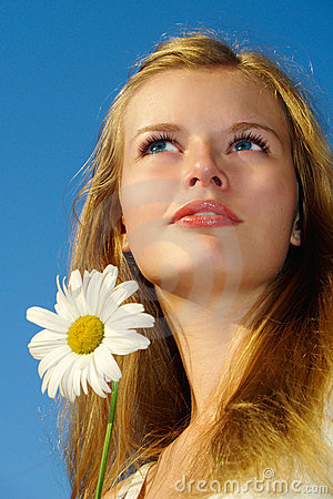 Free Summer Portrait Of Blue-eyed Blond Girl Stock Photography - 10998952