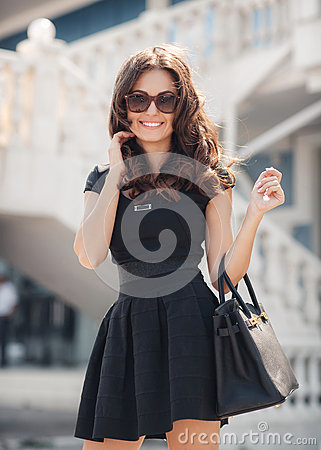 Free Summer Portrait Of The Beautiful Woman In The City Stock Photography - 66650232