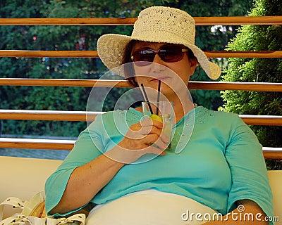 Summer portrait of senior lady