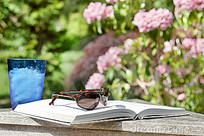 Summer reading outside