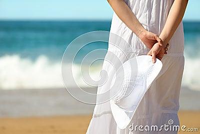 Summer relax on beach concept