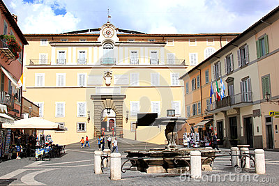 Summer residence of Pope, Castel Gandolfo, Italy Editorial Stock Image