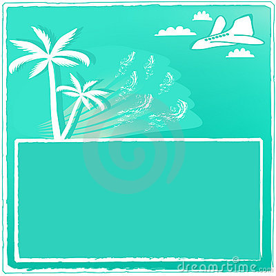 Summer resort card