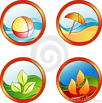 Summer rest icons