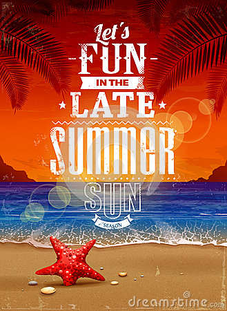 Free Summer Retro Poster Stock Images - 31404984