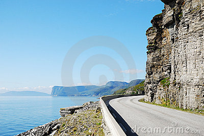 Summer Road Along The Coast Of Mageroya. Royalty Free Stock Images - Image: 20162249
