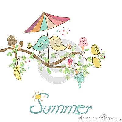 Summer romantic card