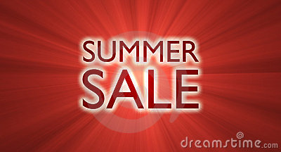 Summer sale banner red light flare